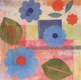 Blue Pattern Flower
