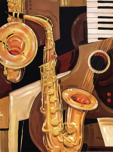 Abstract Sax - mini Poster by Paul Brent for $16.25 CAD
