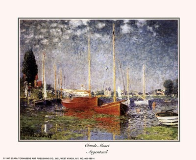Argenteuil Poster by Claude Monet for $8.75 CAD