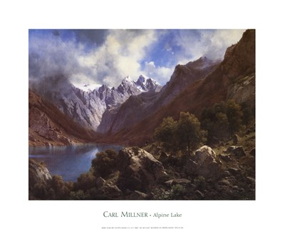 Alpine Lake Poster by Millner for $20.00 CAD
