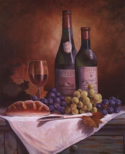 Wine & Grape II Poster by T.C. Chiu for $8.75 CAD