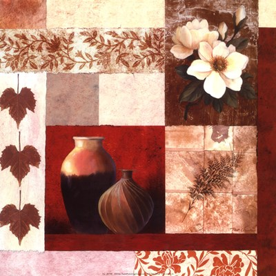 Vase Collage II Poster by T.C. Chiu for $11.25 CAD