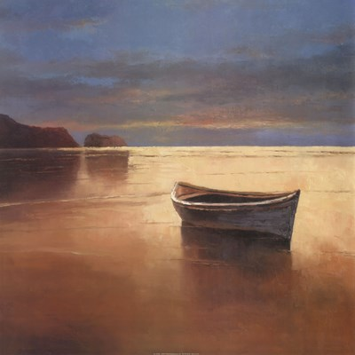 Boat on Beach Poster by T.C. Chiu for $35.00 CAD
