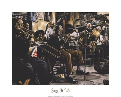 Jazz Band Poster by Gregory Myrick for $20.00 CAD