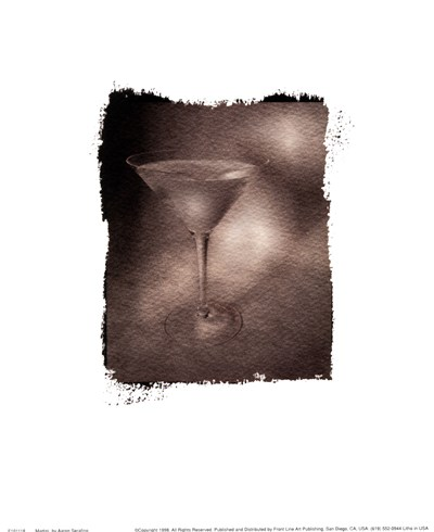 Martini Poster by Aaron Serafino for $11.25 CAD