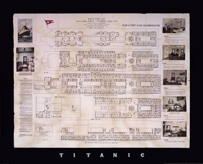 Titanic Deck Plan Poster by Unknown for $46.25 CAD
