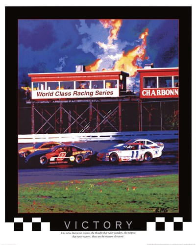 Victory-Auto Racing Poster by Richard M. Swiatlowski for $18.75 CAD