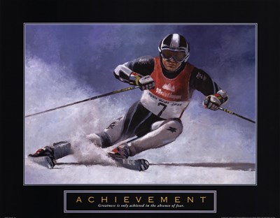 Achievement - Skier Poster by T.C. Chiu for $18.75 CAD