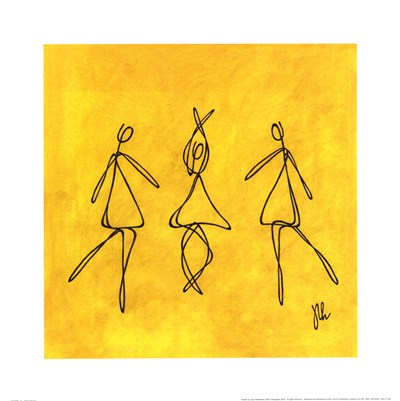 Joy - Yellow Dancers Poster by Joyce McAndrews for $33.75 CAD