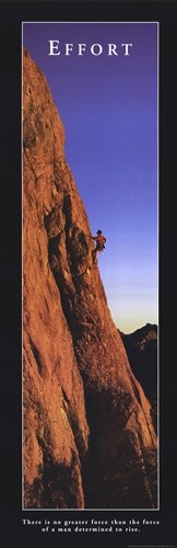 Effort - Climber Poster by Unknown for $18.75 CAD