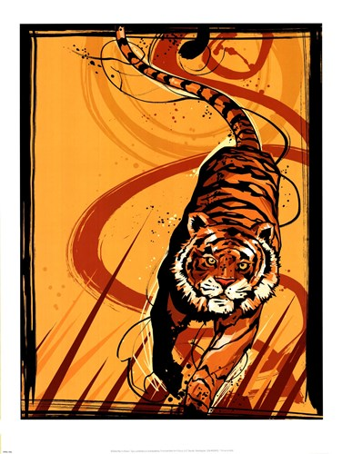 Tiger Poster by Martin French for $35.00 CAD