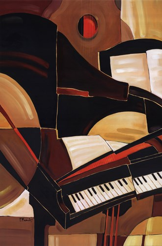 Abstract Piano Poster by Paul Brent for $40.00 CAD