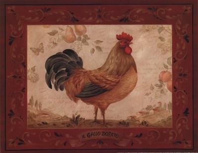 Gallo Dorato - Mini Poster by Pamela Gladding for $12.50 CAD