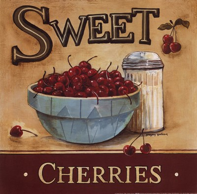 Sweet Cherries Poster by Gregory Gorham for $12.50 CAD