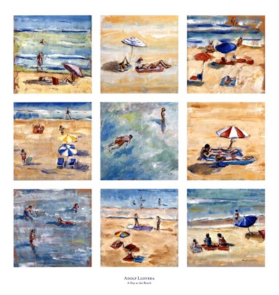 A Day at the Beach Poster by Adolf Llovera for $57.50 CAD