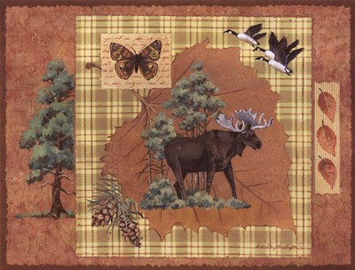 Moose Leaf Poster by Anita Phillips for $20.00 CAD