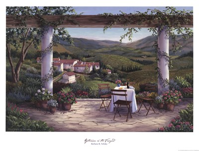Afternoon in the Vineyard Poster by Barbara Felisky for $31.25 CAD