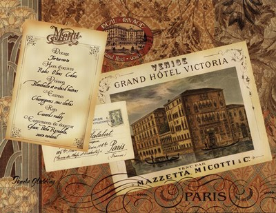 Grand Hotel Paris Poster by Pamela Gladding for $12.50 CAD