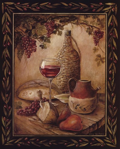 Tuscan Table - Chianti Poster by Gregory Gorham for $20.00 CAD