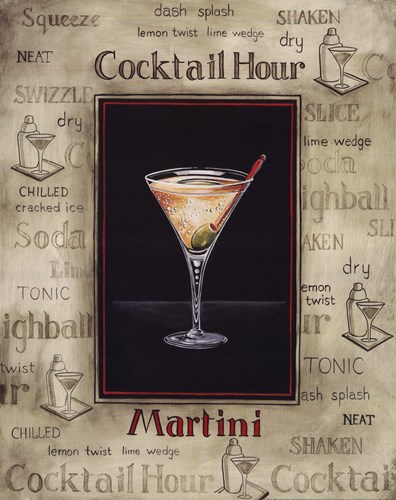 Martini Poster by Gregory Gorham for $20.00 CAD
