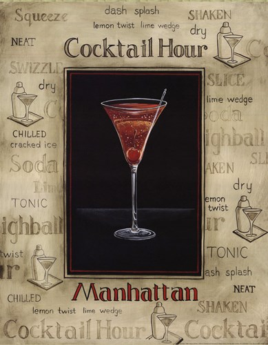 Manhattan Poster by Gregory Gorham for $20.00 CAD