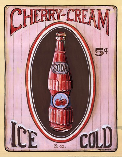 Cherry Cream Poster by Gregory Gorham for $12.50 CAD