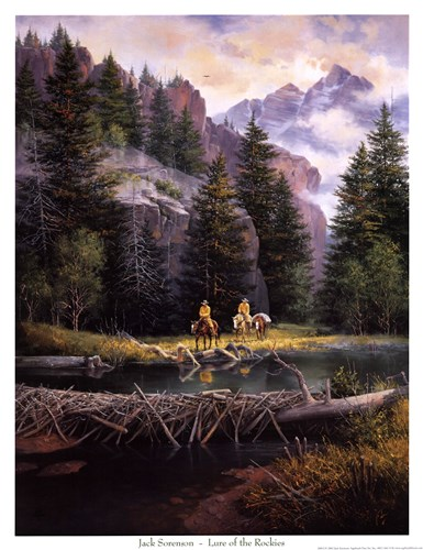 Lure of Rockies Poster by Jack Sorenson for $20.00 CAD