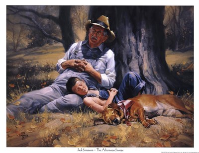 Afternoon Snooze Poster by Jack Sorenson for $18.75 CAD