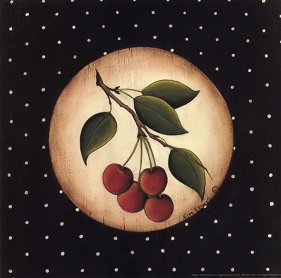 4 Cherries Poster by Kim Lewis for $11.25 CAD