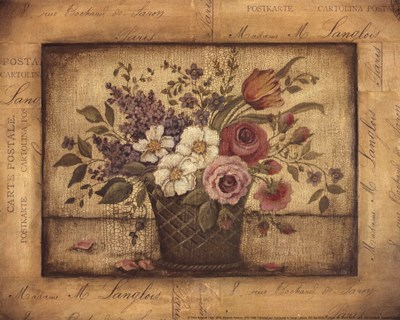 Paris Bouquet I - mini Poster by Kimberly Poloson for $10.00 CAD