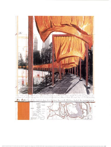 The Gates, Project for Central Park, New York City Poster by Christo (Javacheff) for $18.75 CAD