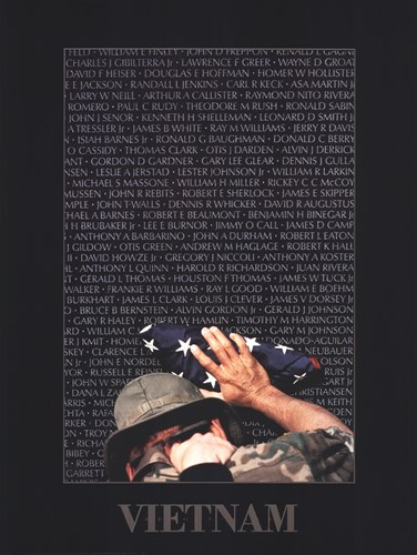 Vietnam Memory Wall Poster by Peter Marlow for $35.00 CAD