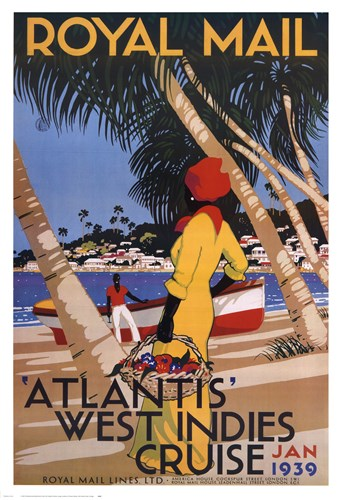 West Indies Cruise Poster by Unknown for $40.00 CAD