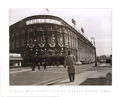 Jackie Robinson Leaving Ebbets Field, 1947 Poster by Bettmann-Corbis for $40.00 CAD