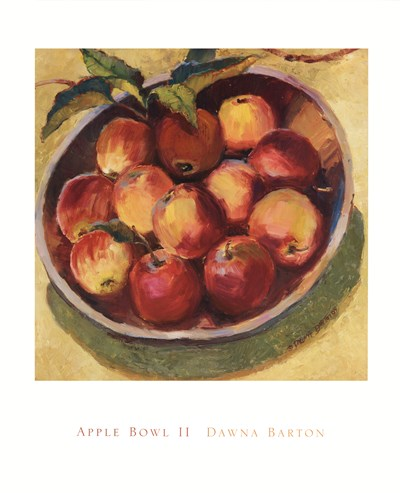 Apple Bowl II Poster by Dawna Barton for $37.50 CAD