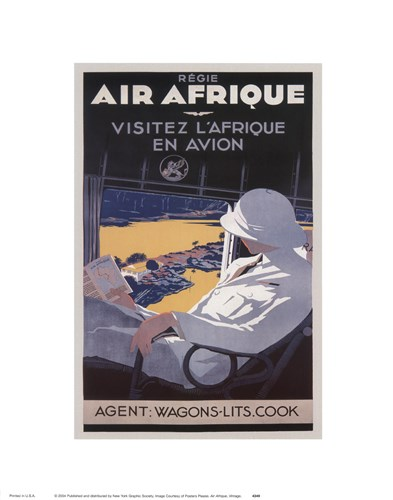 Air Afrique Poster by Unknown for $15.00 CAD