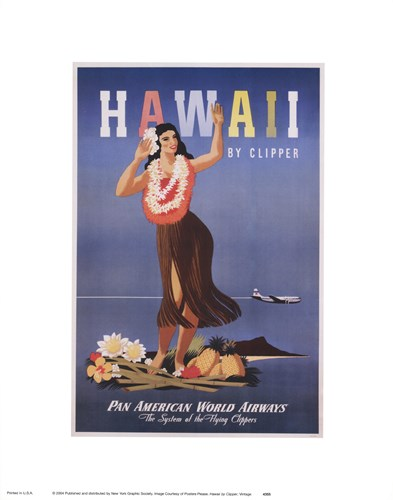 Hawaii by Clipper Poster by Unknown for $15.00 CAD