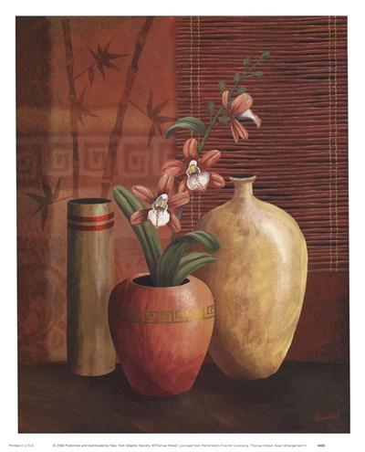 Asian Arrangement II Poster by Thomas Wood for $12.50 CAD