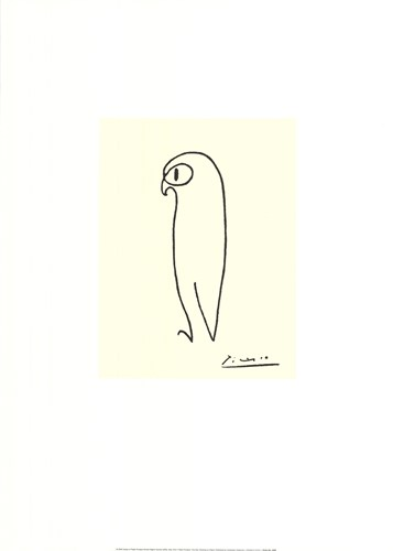 The Owl Poster by Pablo Picasso for $22.50 CAD