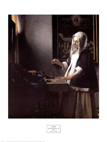 A Woman Holding a Balance Poster by Johannes Vermeer for $40.00 CAD