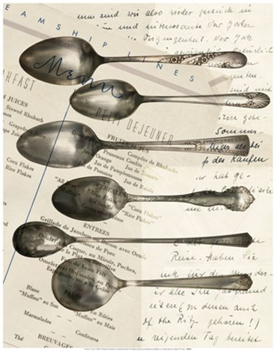 Cutlery Spoons In Sepia Poster by Unknown for $22.50 CAD