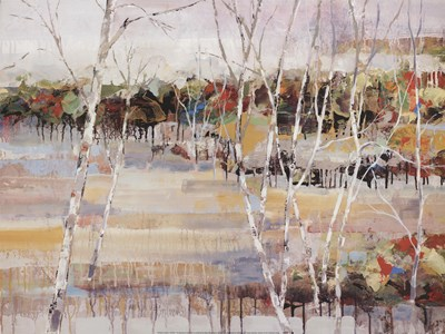 Snowy Birches Poster by Michael Longo for $31.25 CAD