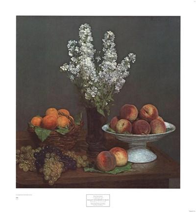 Bouquet de Julienne et Fruits Poster by Henri Fantin-Latour for $40.00 CAD