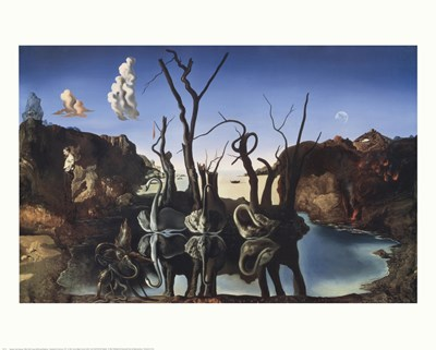 Swans Reflecting Elephants, c.1937 Poster by Salvador Dali for $17.50 CAD