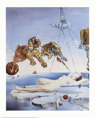 Dream Caused by the Flight of a Bee Around a Pomegranate, A Second Before Awakening, c.1944 Poster by Salvador Dali for $17.50 CAD
