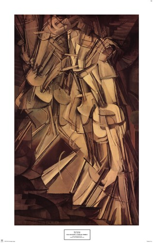 Nude Descending a Staircase, No. 2, 1912 Poster by Marcel Duchamp for $40.00 CAD