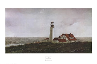 Above Portland Light Poster by Doug Brega for $40.00 CAD