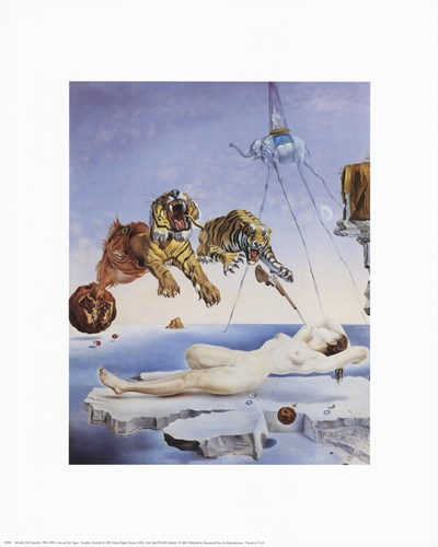 Dream Caused by the Flight of a Bee Around a Pomegranate, A Second Before Awakening, c.1944 Poster by Salvador Dali for $10.00 CAD