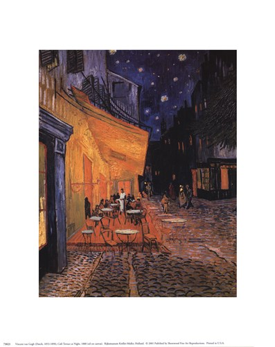 The Cafe Terrace on the Place du Forum, Arles, at Night, c.1888 Poster by Vincent Van Gogh for $8.75 CAD