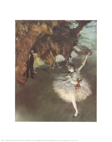 The Star Poster by Edgar Degas for $8.75 CAD